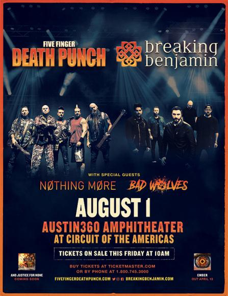 Five Finger Death Punch & Breaking Benjamin at Golden 1 Center