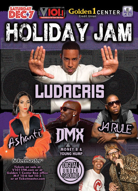 V101 Holiday Jam 2019: Ludacris, Ja Rule, Ashanti, DMX & Digital Underground at Golden 1 Center
