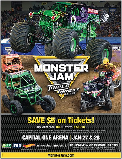 Monster Jam Triple Threat Series at Golden 1 Center